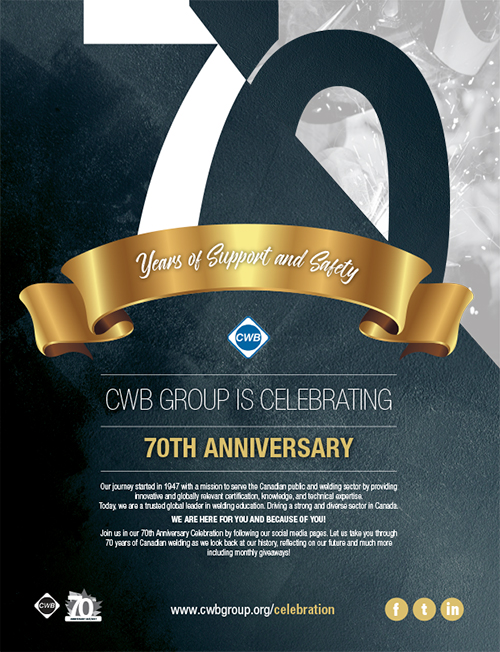 CWB Group 70th anniversary poster