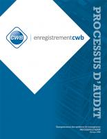 Enregistrement CWB - PROCESSUS D'AUDIT