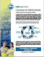 CSA A660-10 Certification