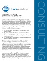 CWB Consulting - DELIVERING SOLUTIONS FOR IMPROVING WELDING PERFORMANCE