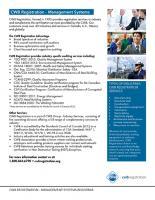 CWB Registration - Management System Registrar