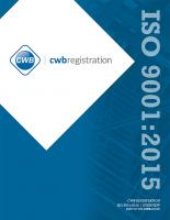 CWB Registration - ISO 9001: 2015
