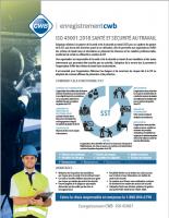ISO 45001:2018 SANTÉ ET SÉCURITÉ AU TRAVAIL