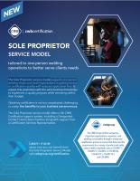 CWB Certification: Sole Proprietor Service Model